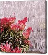 Waterfall Flowers Canvas Print