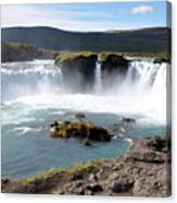 Waterfall - Godafoss Canvas Print