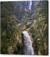 Waterfall Highlands Of Guatemala 1 Canvas Print