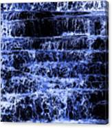 Waterfall In Blue Canvas Print