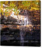 Waterfall In Creve Coeur Canvas Print