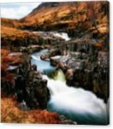 Waterfall In Glencoe Canvas Print