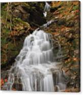 Waterfall In Smugglers Notch Canvas Print