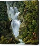 Waterfall In The Bern Highlands Canvas Print