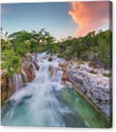 Waterfall In The Texas Hill Country 3 Canvas Print