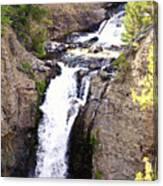 Waterfall In Yellowstone Canvas Print
