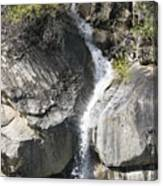 Waterfall Into The Feather River Canvas Print