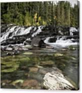 Waterfall Mcdonald Creek Canvas Print