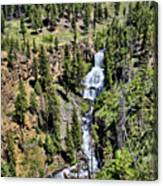 Waterfall On Lava Creek 1 Canvas Print