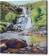 Waterfall On Skye 2 Canvas Print