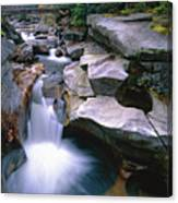 Waterfall On The Ammonoosuc River  Canvas Print