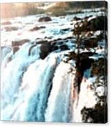 Waterfall Scene For Mia Parker - Sutcliffe L B Canvas Print