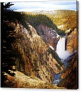 Waterfall Yellowstone 2 Canvas Print