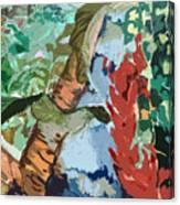 Waterfalling Jungle Canvas Print