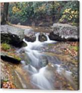 Waterfalls At Roaring River Stone Mountain Canvas Print