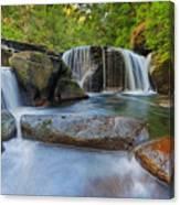 Waterfalls At Sweet Creek Falls Trail Canvas Print