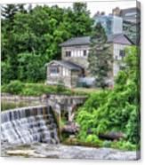 Waterfalls Cornell University Ithaca New York 04 Canvas Print