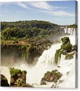 Waterfalls On Iguazu River Canvas Print