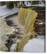 Waterfalls Upper Tahquamenon -6049 Pure Michigan Canvas Print