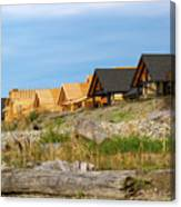 Waterfront Condominiums On The Beach Of Semiahmoo Bay Canvas Print