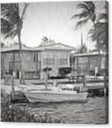 Waterfront Cottages At Parmer's Resort In Keys Canvas Print