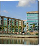 Waterfront Hotel Canvas Print
