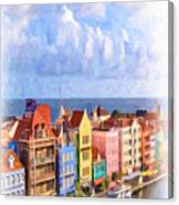 Waterfront Houses Canvas Print