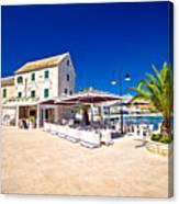 Waterfront Promenade Og Town Primosten Canvas Print