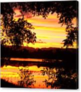 Waterfront Spectacular Sunset Canvas Print
