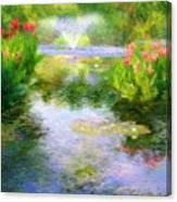 Watergarden In Monet Style Canvas Print