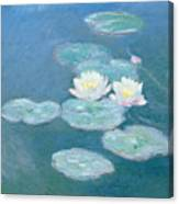 Waterlilies Evening Canvas Print