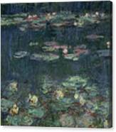 Waterlilies Green Reflections Canvas Print