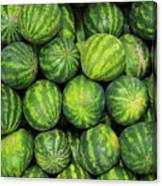 Watermelons At The Market Canvas Print