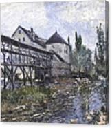 Watermill Near Moret Canvas Print