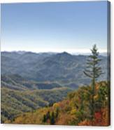 Waterrock Knob On Blue Ridge Parkway Canvas Print