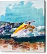 Waterskis  Canvas Print