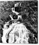Water Slide Waterfall Bw Canvas Print