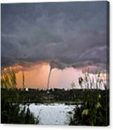 Waterspout Over Pass A Grill Canvas Print
