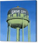 Watertower Grove City Canvas Print