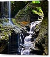 Watkins Glen Rainbow Falls Canvas Print