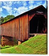 Watson Mill Covered Bridge 040 Canvas Print