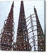 Watts Towers 2 - Los Angeles Canvas Print