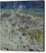 Wave At Sea Canvas Print