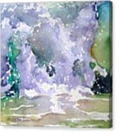Wave Breaking Into Green Canvas Print