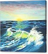 Wave By Early Light Canvas Print