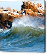 Wave Mirrors Rock Canvas Print