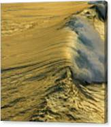 Wave Rolling Gold Canvas Print