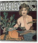 Waverley Cycles - Paris 1898 Canvas Print