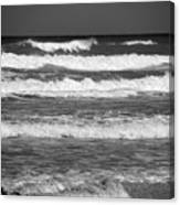 Waves 3 In Bw Canvas Print