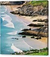 Waves Coming Ashore At Sybil Point Ireland  # 1 Canvas Print
